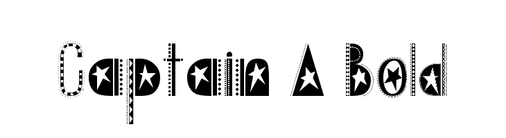 Captain A Bold  Free Fonts Download