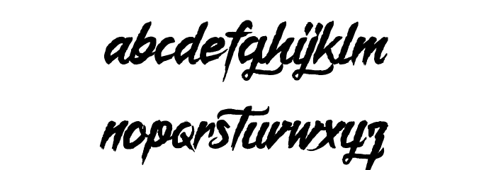 Captain Redemption Font LOWERCASE