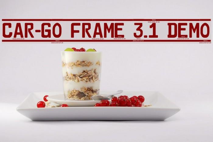 Car-Go Frame 3.1 Demo फ़ॉन्ट examples