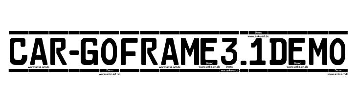 Car-GoFrame3.1Demo फ़ॉन्ट