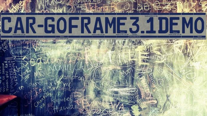 Car-GoFrame3.1Demo फ़ॉन्ट examples