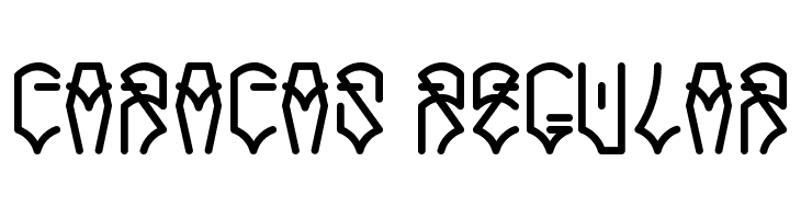 Caracas Regular  Free Fonts Download