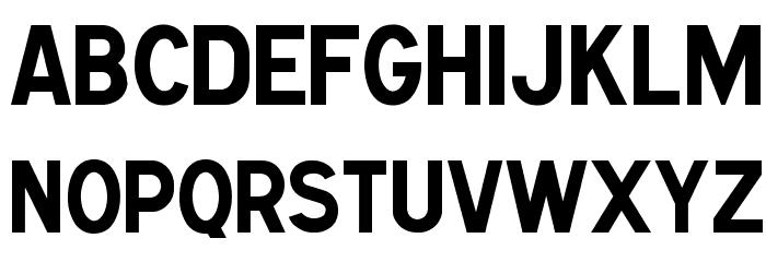 Caracteres L1 Font UPPERCASE