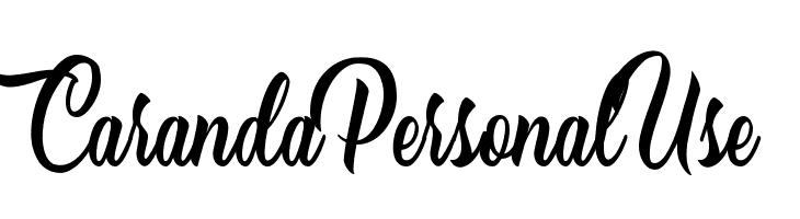 Caranda Personal Use  Шрифта