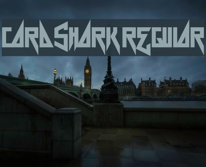 Card Shark Regular फ़ॉन्ट examples