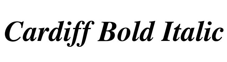 Cardiff Bold Italic  baixar fontes gratis