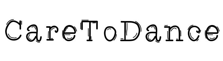 CareToDance  Скачать бесплатные шрифты