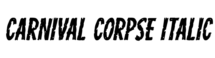 Carnival Corpse Italic  Free Fonts Download