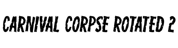 Carnival Corpse Rotated 2  नि: शुल्क फ़ॉन्ट्स डाउनलोड