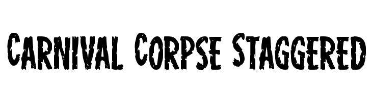 Carnival Corpse Staggered  Free Fonts Download