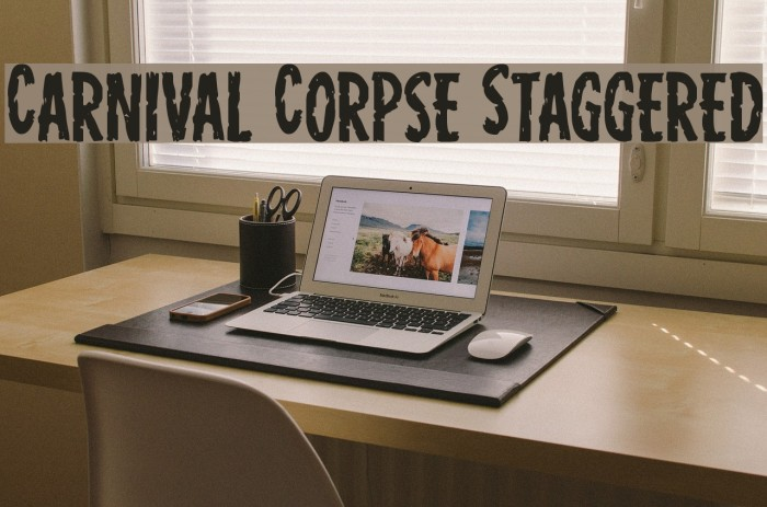 Carnival Corpse Staggered Fonte examples