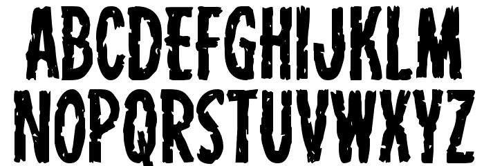 Carnival Corpse Staggered Шрифта строчной