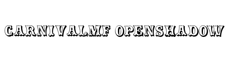CarnivalMF OpenShadow Font