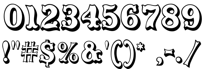 CarnivalMF OpenShadow Font OTHER CHARS