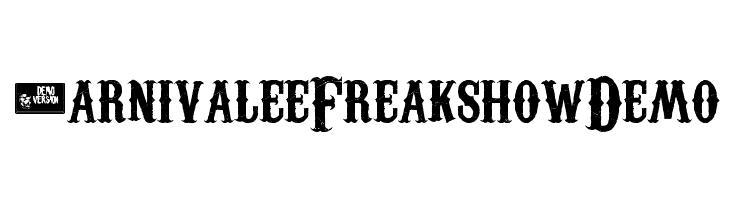 Carnivalee Freakshow Demo  Free Fonts Download