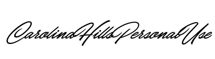 Carolina Hills Personal Use  Free Fonts Download