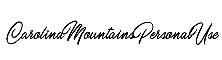 Carolina Mountains Personal Use  Free Fonts Download