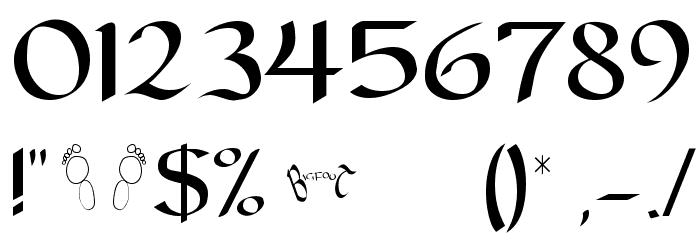 Carolingia [BigfooT]  Normal フォント その他の文字