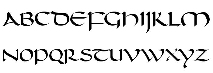 Carolingia [BigfooT]  Normal フォント 大文字