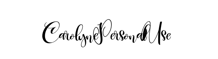 CarolynePersonalUse Font