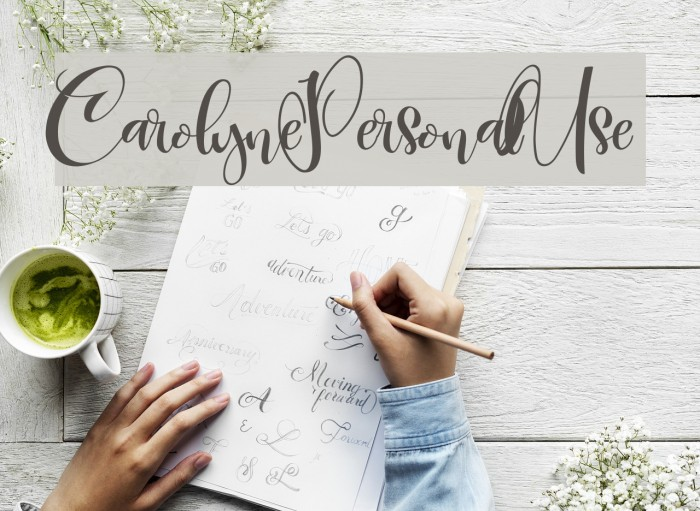CarolynePersonalUse Font examples