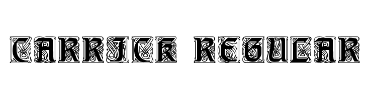 Carrick Regular  Free Fonts Download