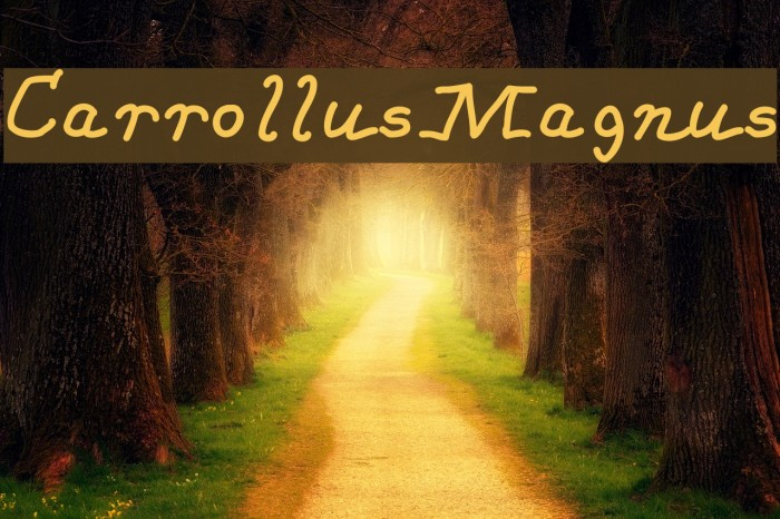 CarrollusMagnus Schriftart examples