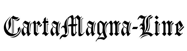 CartaMagna-Line  Скачать бесплатные шрифты