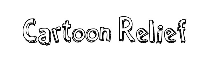 Cartoon Relief  Free Fonts Download