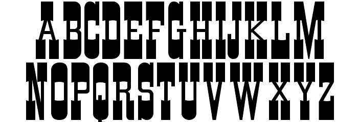 Cartwright Regular Font UPPERCASE