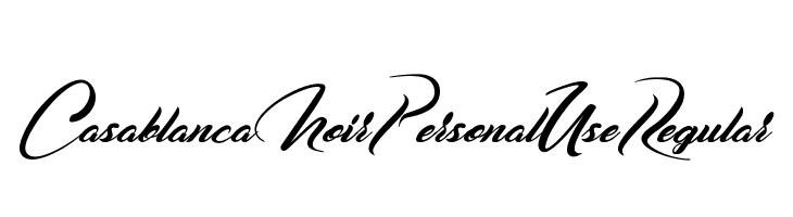 Casablanca Noir Personal Use Regular  नि: शुल्क फ़ॉन्ट्स डाउनलोड