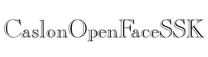 CaslonOpenFaceSSK  Скачать бесплатные шрифты