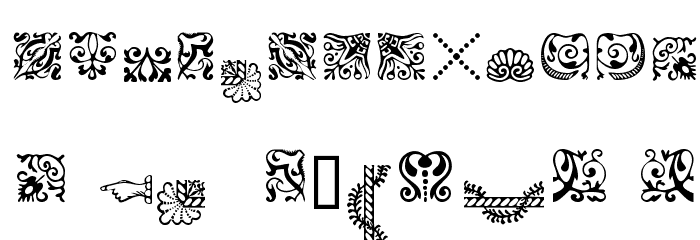 CaslonOrnamentsSSK Font UPPERCASE