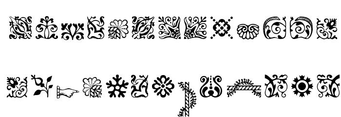 CaslonOrnamentsSSK Font LOWERCASE