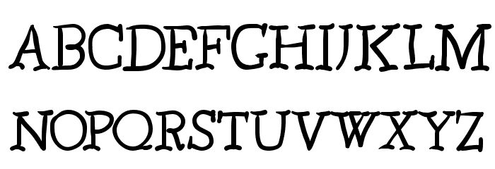 Caslonia Font UPPERCASE