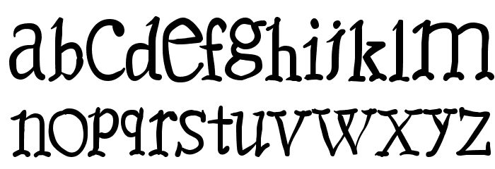 Caslonia Font LOWERCASE