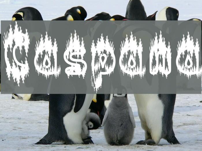 Caspana Font examples