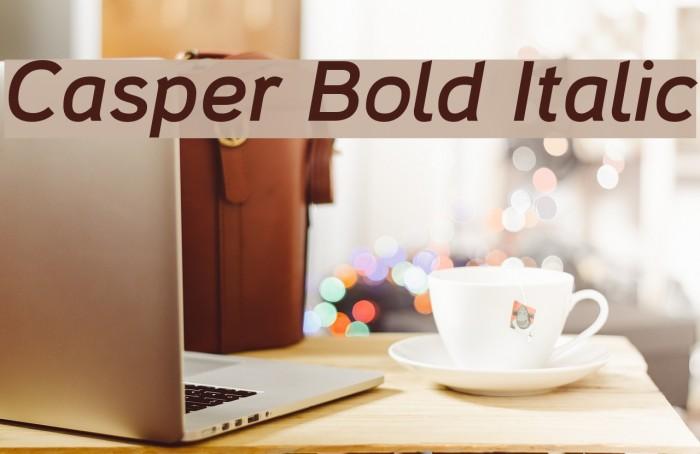 Casper Bold Italic Polices examples