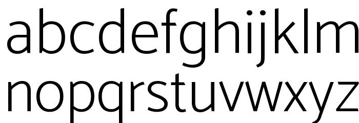 Catamaran ExtraLight Font LOWERCASE