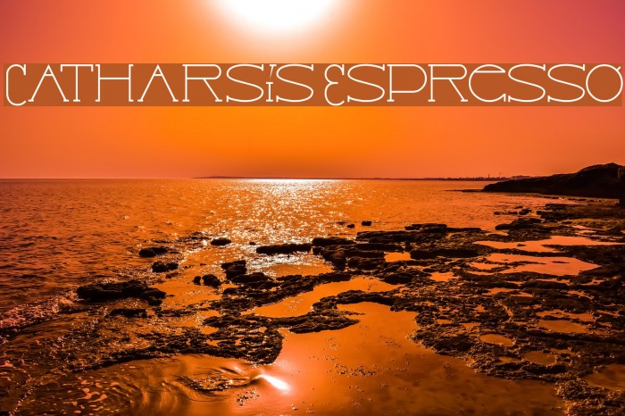 Catharsis Espresso Font examples