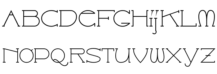 Catharsis Espresso Font LOWERCASE