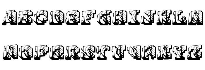 Cauterise 字体 大写