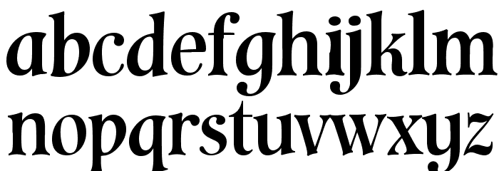 Cavalier Font LOWERCASE