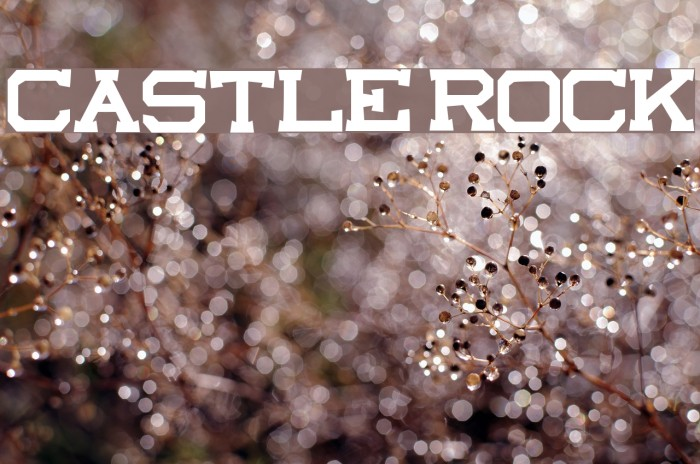 castle rock Шрифта examples