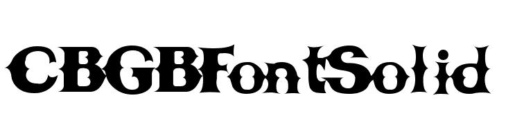 CBGBFontSolid  baixar fontes gratis