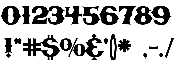 CBGBFontSolid Font OTHER CHARS