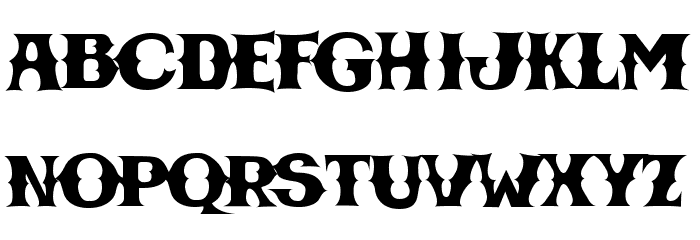 CBGBFontSolid Font UPPERCASE