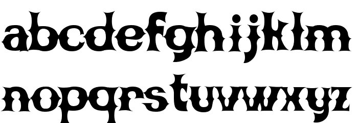 CBGBFontSolid Font LOWERCASE