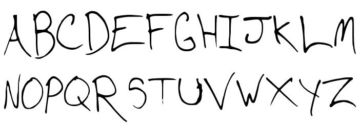 CD Writing Font UPPERCASE