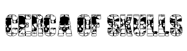 CERCA OF SKULLS  Free Fonts Download